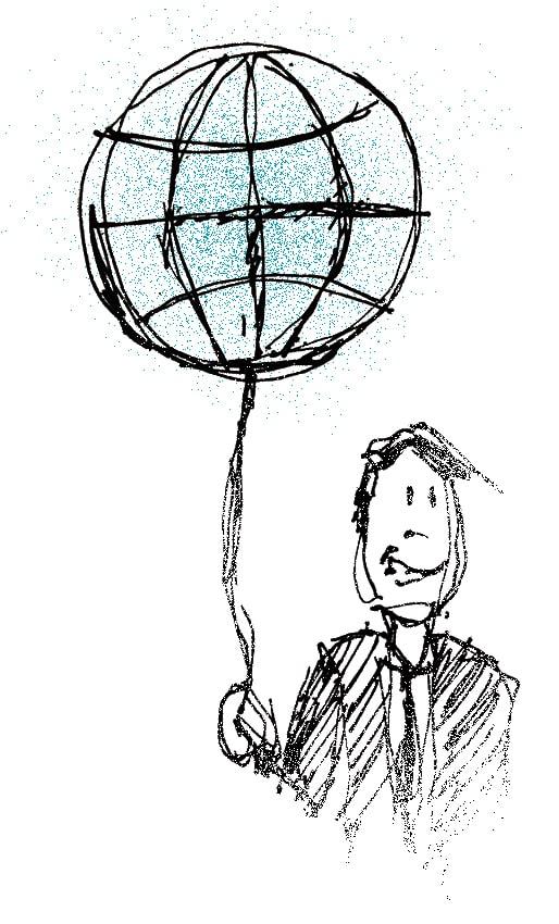 globus ballon mand