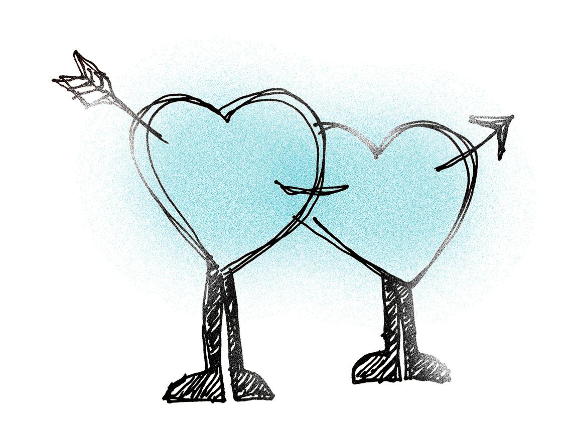 to hjerter